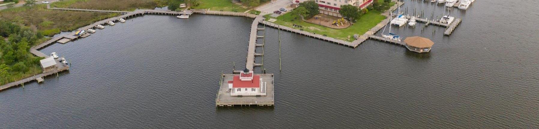 Manteo Waterfront Arial